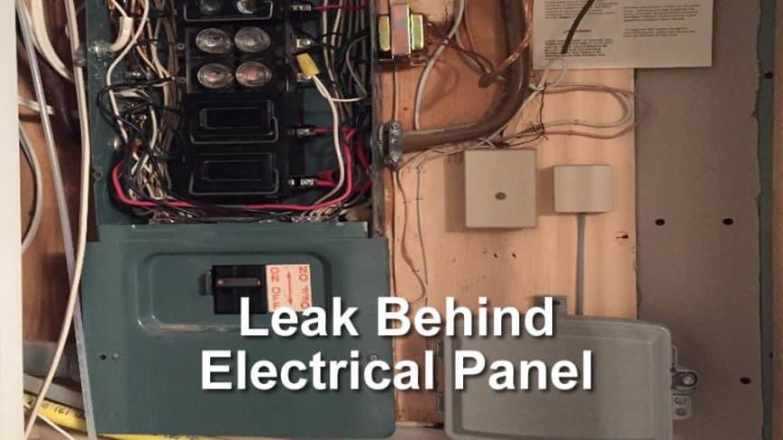 main electrical panel wiring basement leak behind electrical panel how to take action  basement leak behind electrical panel